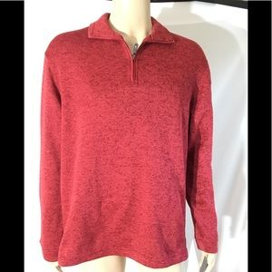 Haggar Classic Fit Sweater Fleece Pullover Shirt